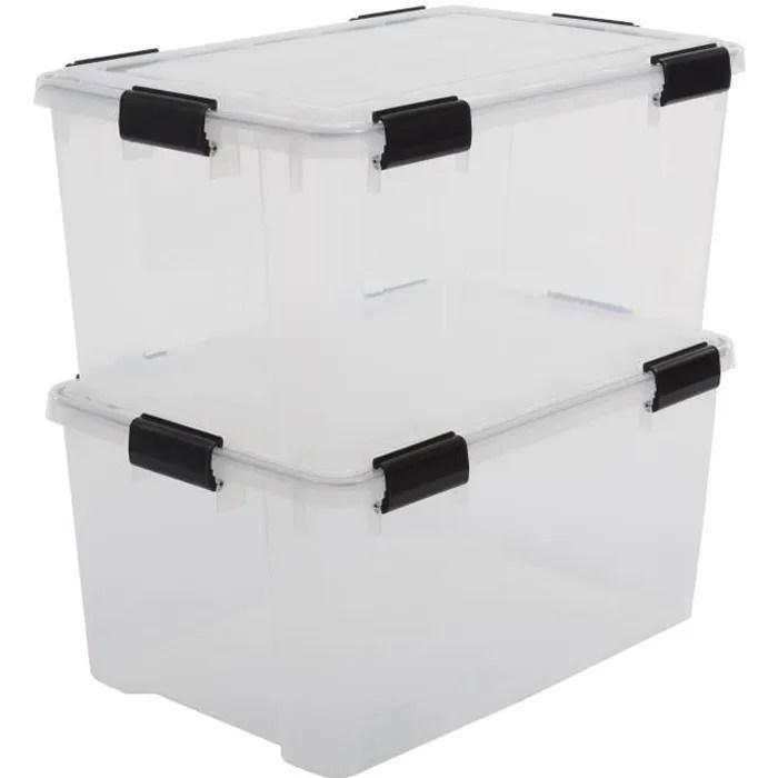 lot boite de rangement plastique avec couvercle