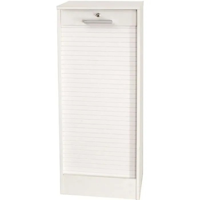 cortina classeur a rideaux contemporain blanc h 106 cm