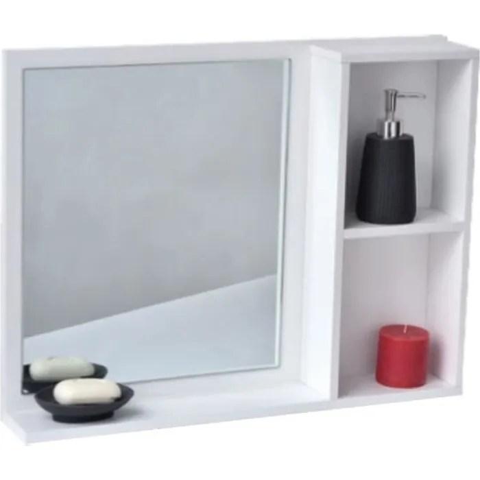 Miroir De Salle De Bain Avec Tablette Et 2 Niches Achat Vente Miroir Salle De Bain Soldes Sur Cdiscount Des Le 20 Janvier Cdiscount