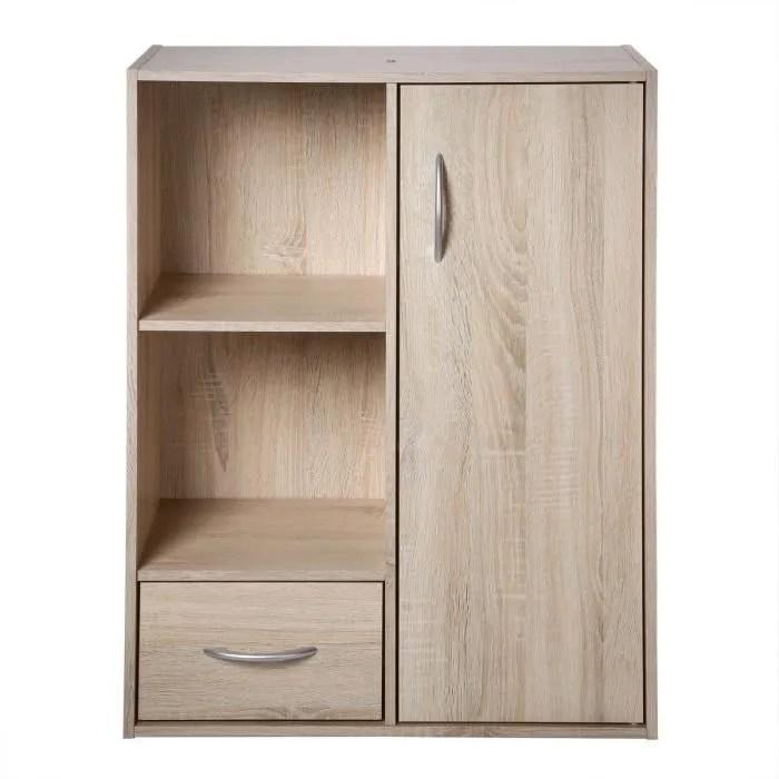 compo meuble de rangement contemporain coloris chene l 62 cm
