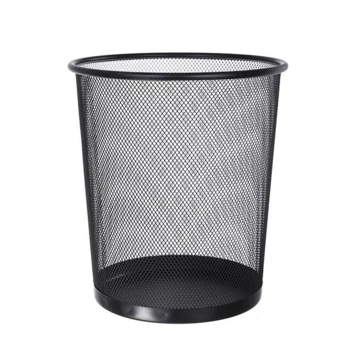maille metal poubelle ronde en fer forge cuisine sans couvercle seau cuisine maison jardin bu9381