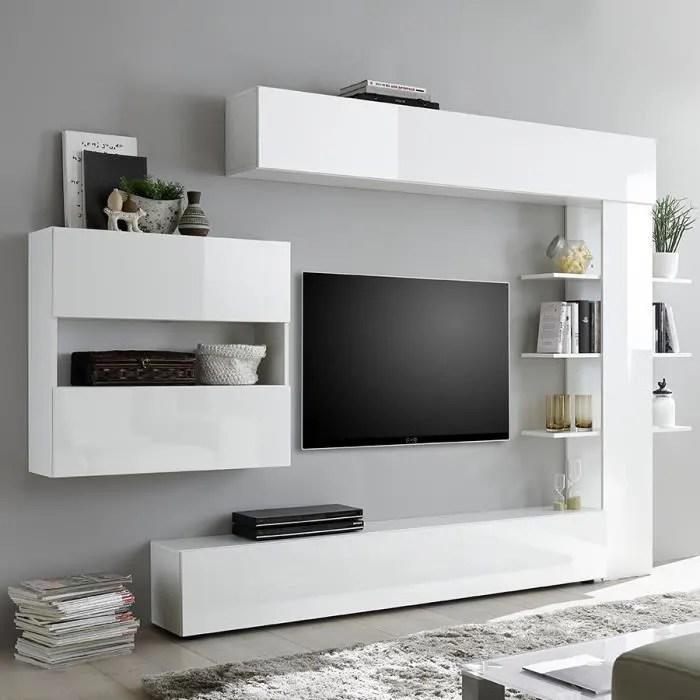 ensemble meubles tv laque blanc soprano l 257 x p