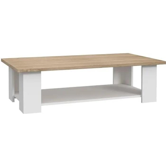 pilvi table basse rectangulaire blanc