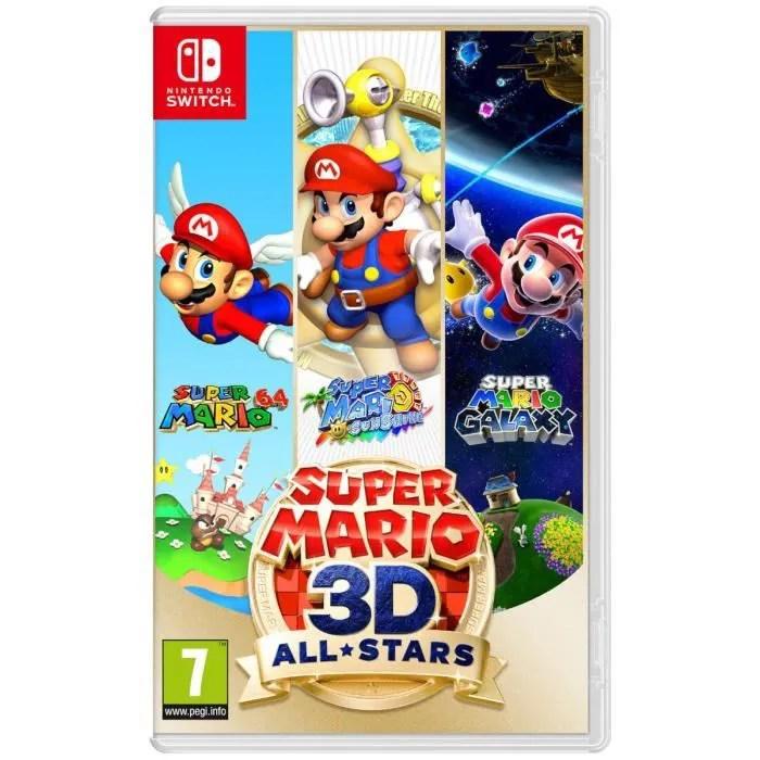 super mario 3d all stars edition limitee jeu nintendo switch