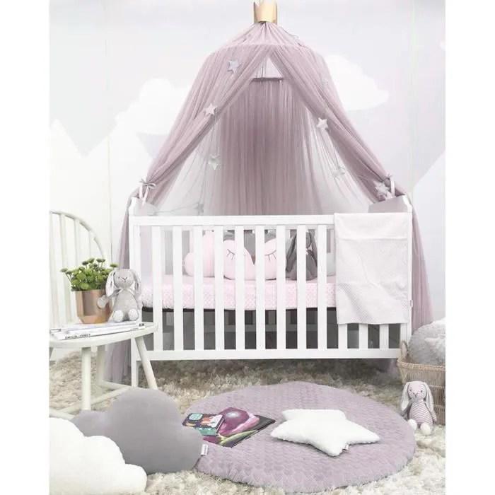 lit bebe ronde rideau tente lit hung