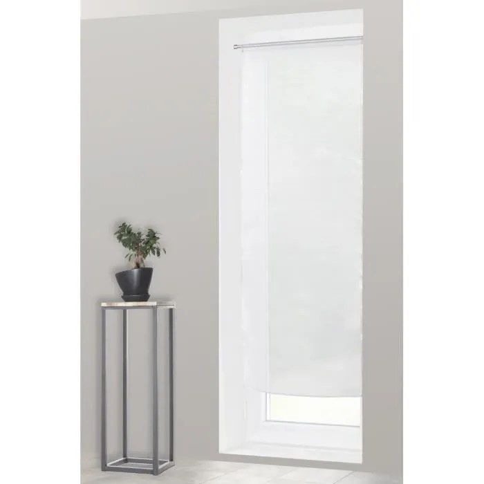 voilage vitrage 70 x 190 cm rayures horizontales b