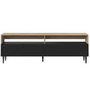 miliboo meuble tv scandinave bois blanc