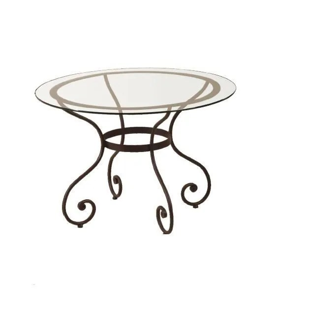 table ronde fer forge sybille blanc or