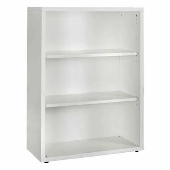 bibliotheque petite blanche en bois recycle 3 casiers reglables en hauteur easyread