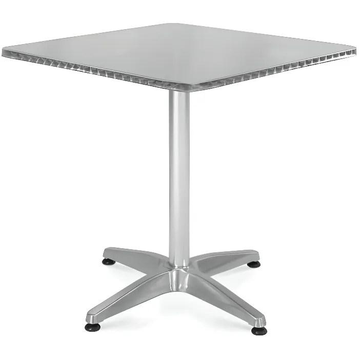 aluminium 70 x 70 cm table