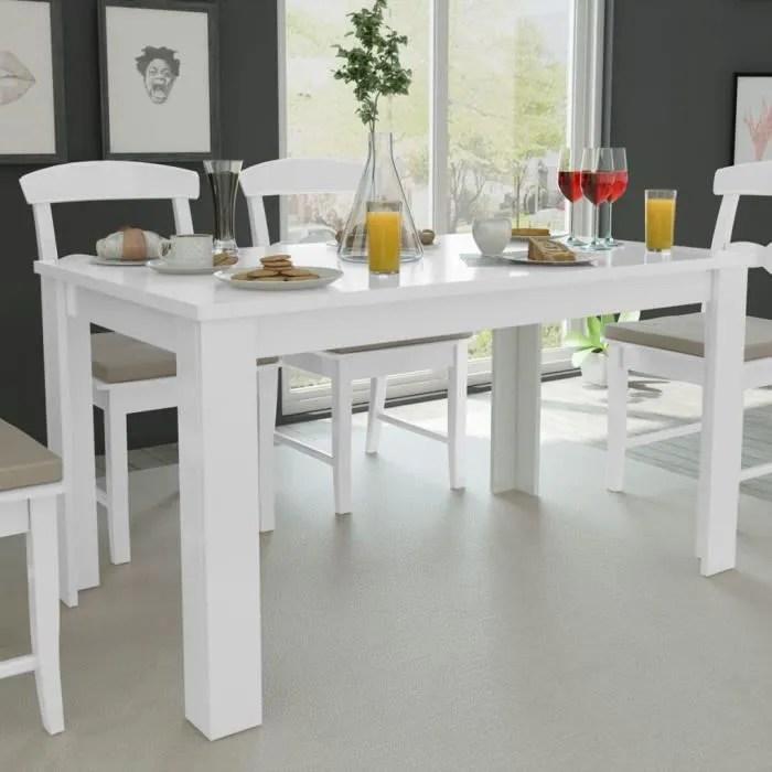table de salle a manger blanche table de salle a manger simplicity table rectangulaire moderne 140x80x75 cm