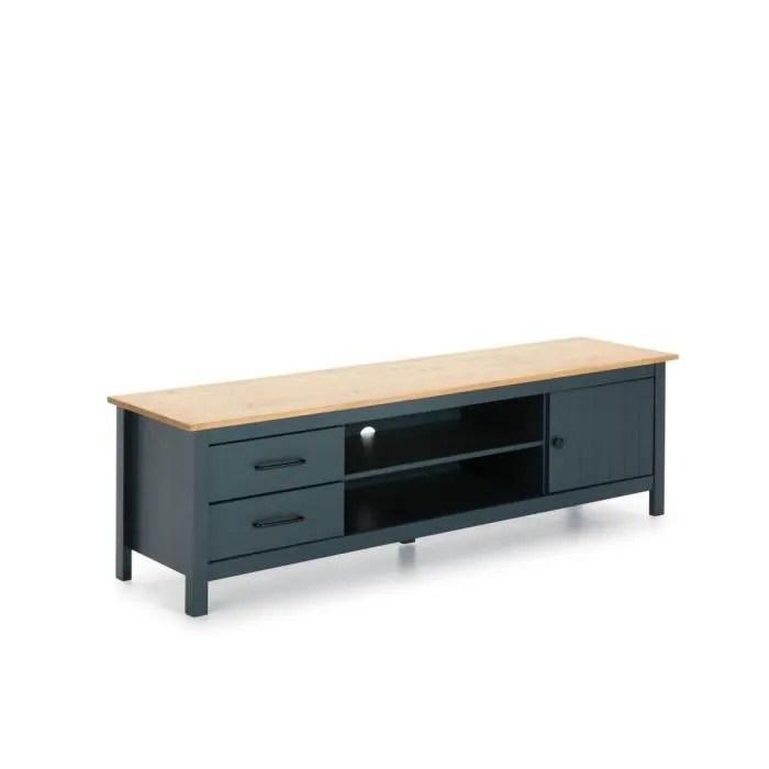 bobochic meuble tele megane bleu bois clair ble