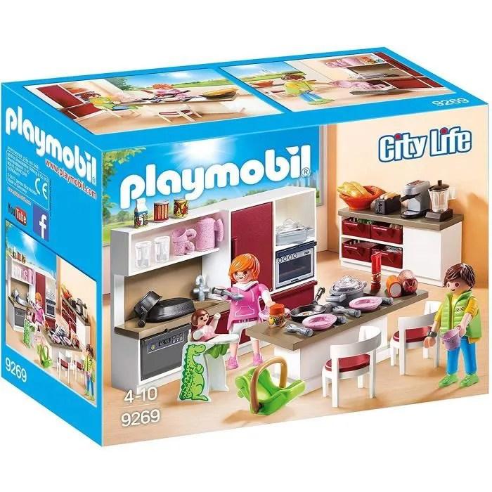 playmobil 9269 la maison moderne cuisine amenagee