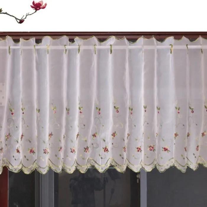 floral brode rideaux courts pour cuisine cantonnie