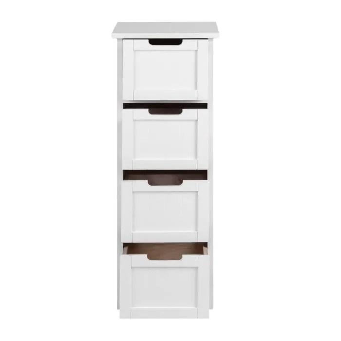 tiroirs meuble de rangement blanc 83cm