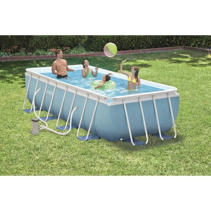 intex kit piscine rectangulaire tubulaire 4 x 2