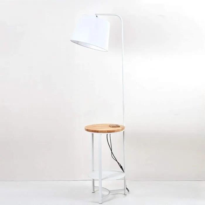 lampadaire liseuse bois