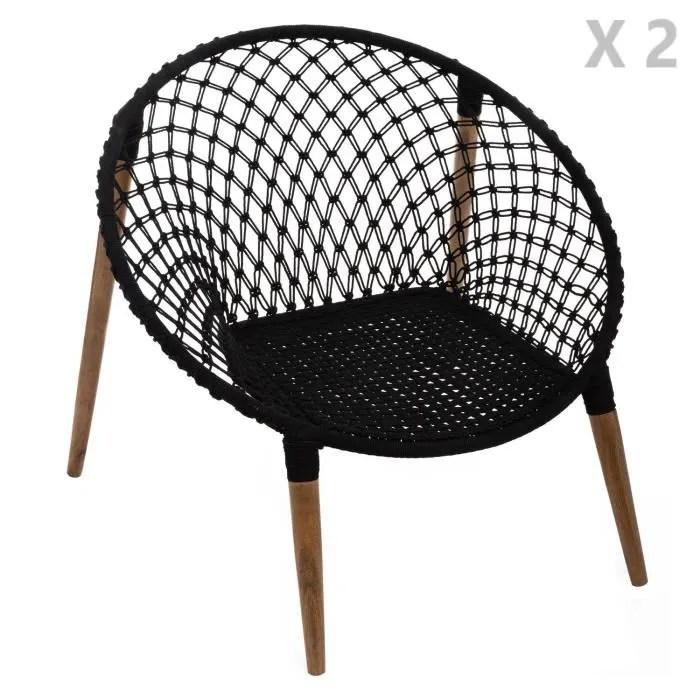 2 fauteuils de jardin ethnique en fil terre sauvag