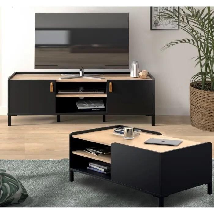 amsterdam table basse meuble tv decor chataign
