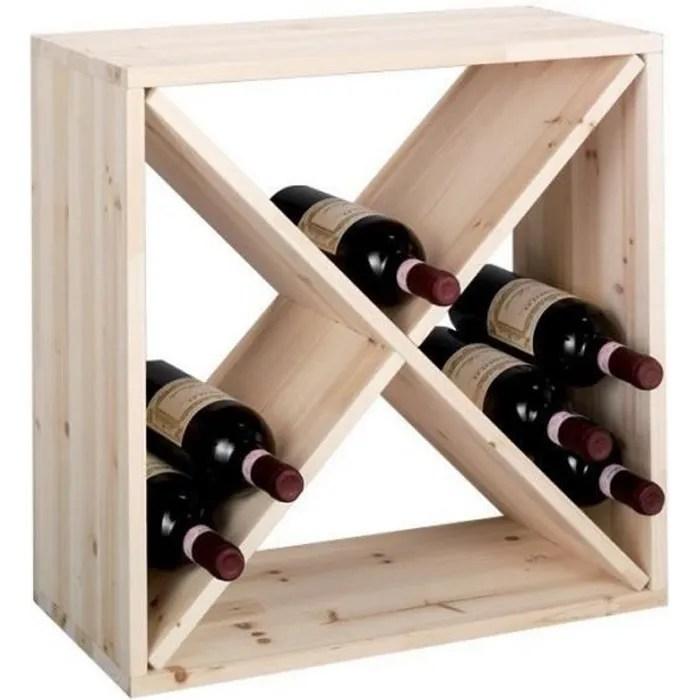 casier a bouteilles de vin cube croix bois zeller