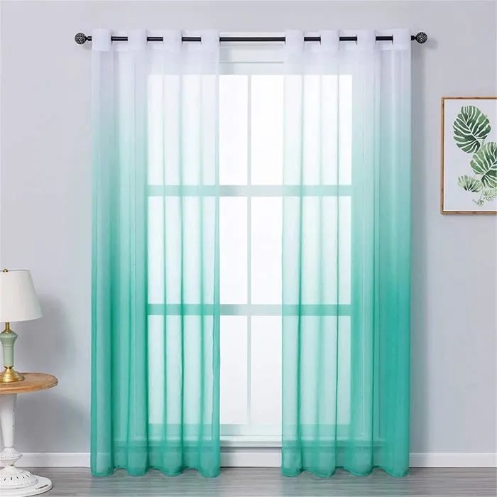 jupitte rideaux voilage blanc bleu vert voilage om