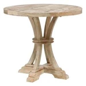 table de repas ronde en bois