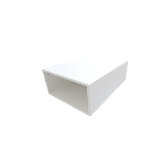 cube de rangement bois profondeur 75 cm couleur blanc