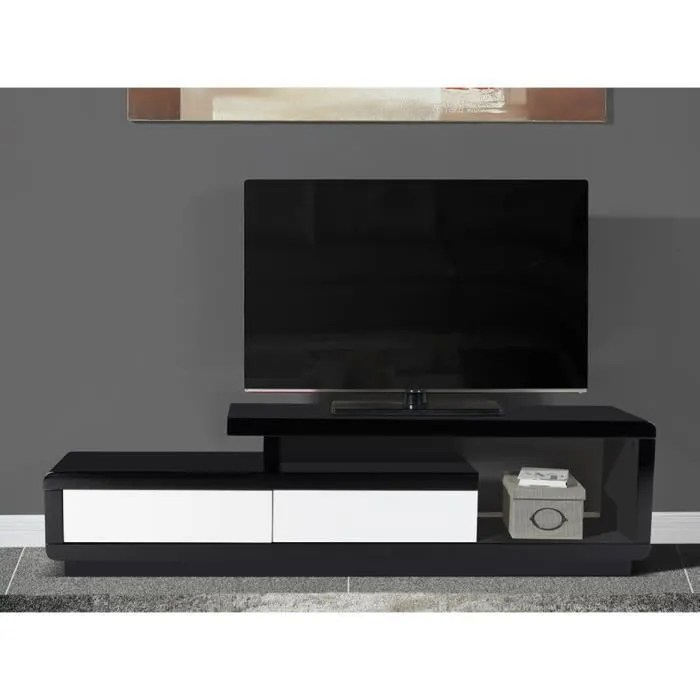 meuble tv artaban 2 tiroirs mdf
