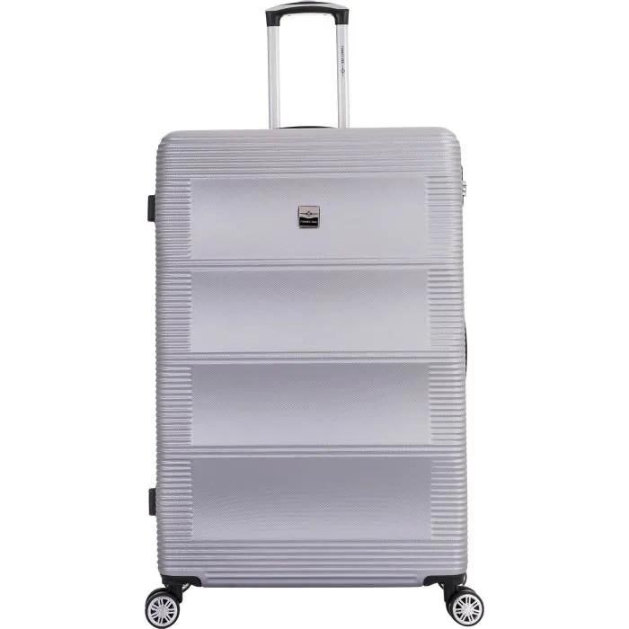 france bag valise 82 cm abs argent