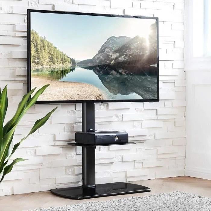 meuble tele pied support pivotant pour tv ecran de