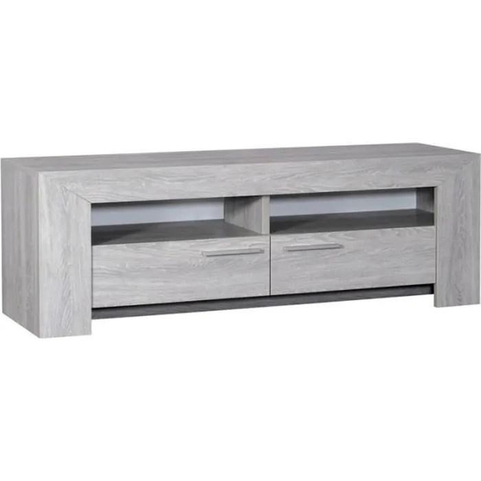 meuble tv gris clair tahiti achat
