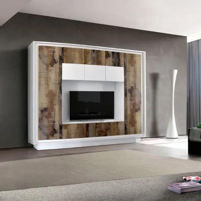 meuble tv composition tv planches bois