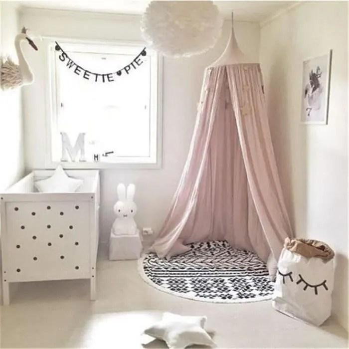 mosstiquaire ciel de lit de bebe et les adulte filles princesse jouer tente enfant chambre decoration hauteur 220cm