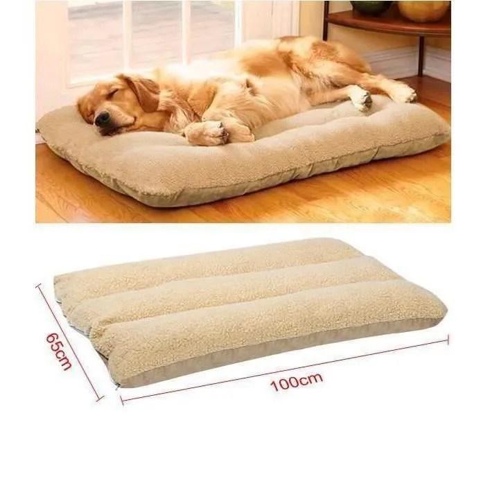 coussin lit tapis pour chien chat en velours couve