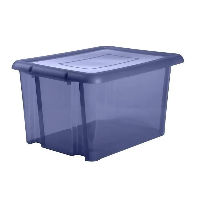eda plastique boite de rangement funny box 80 l bleu profond acidule 64 7 x 49 5 x 36 2 cm