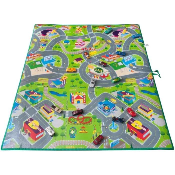 tapis de sol jeu circuit enfant voiture geant 1m20