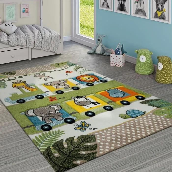 tapis chambre enfant adorable zoo animaux locomoti