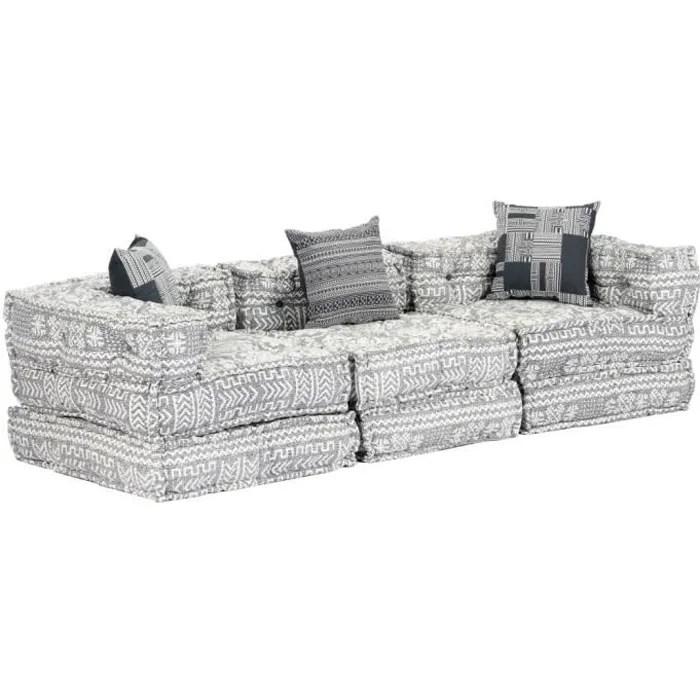 canape lit confortable canape d angle scandinave modulaire a 3 places gris clair tissu