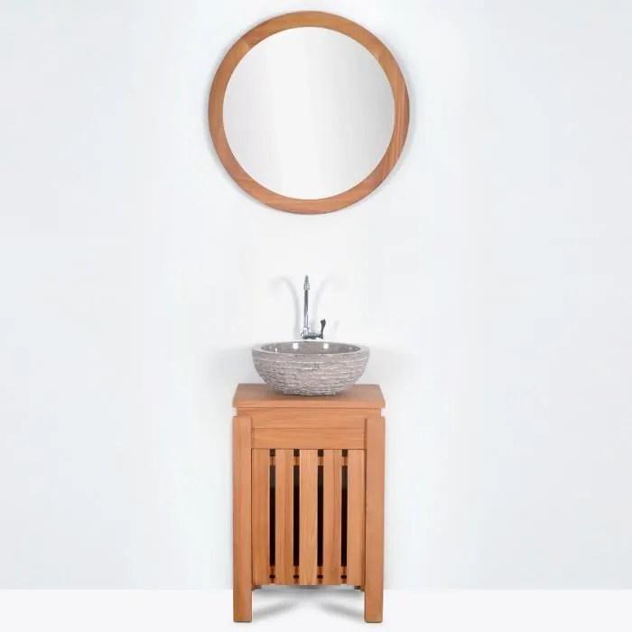 meuble lave main malacca en teck