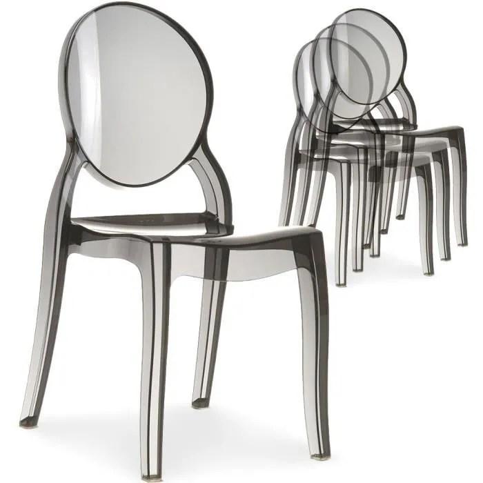 chaise en plexi transparent