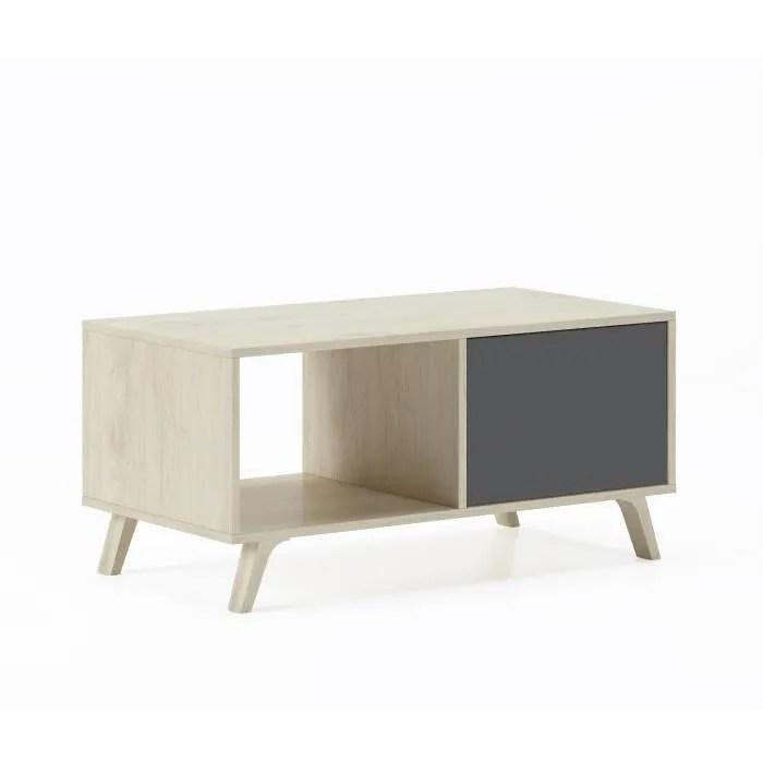 table basse avec portes salle a manger modele wind couleur structure puccini couleur portes gris anthracite 92x50x45cm de haut