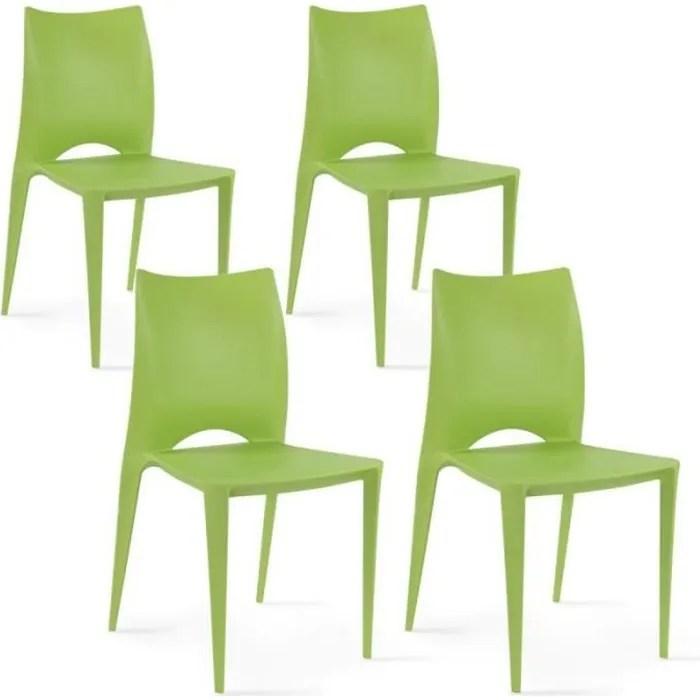 chaise de jardin en plastique empilable chaise de jardin design lot de 4
