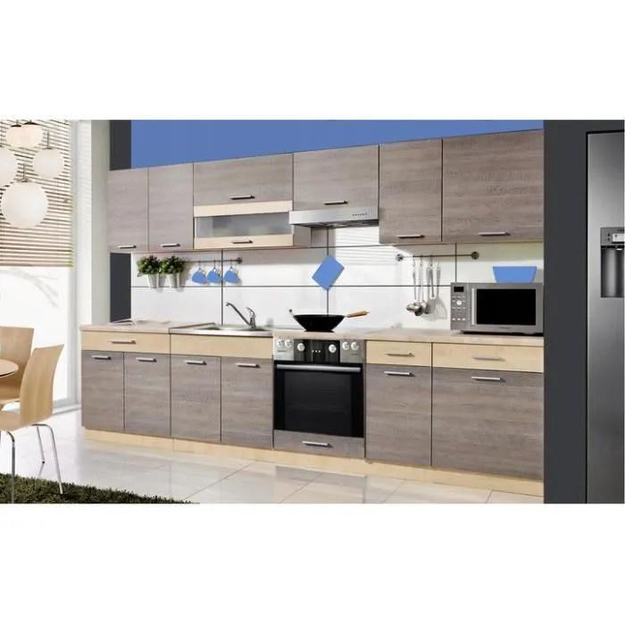 samson cuisine complete l 3 2 m 9 pcs plan de travail inclus ensemble meubles de cuisine moderne armoires cuisine navara