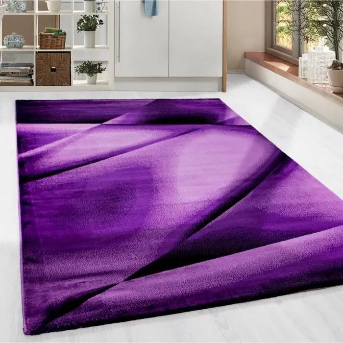 tapis a poil court moderne abstrait lienien modele
