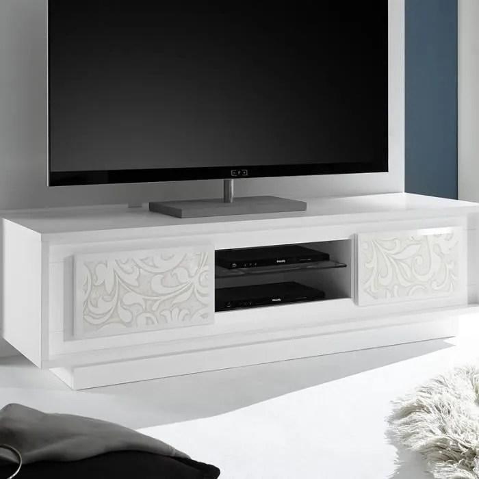 meuble tv design blanc laque serigraphies erine 4