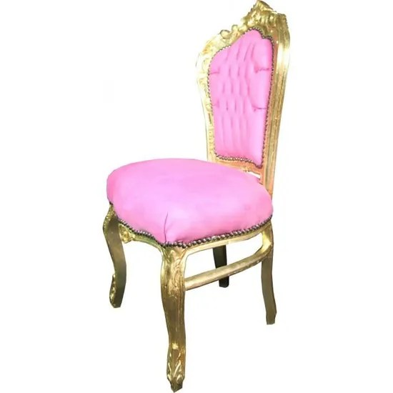 casa padrino chaise baroque rose or