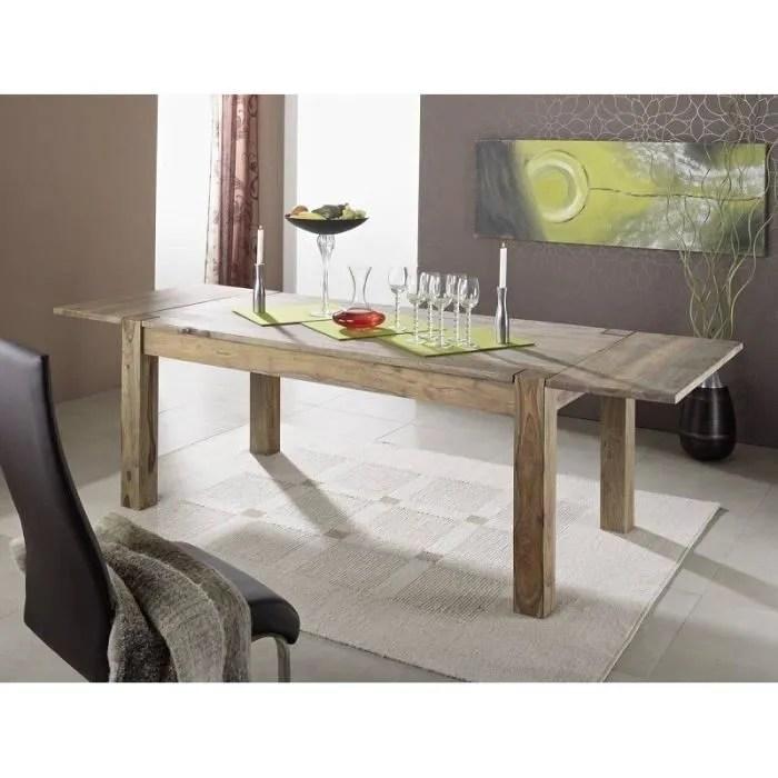 table extensible 160 240x90cm bois massif de palissandre huile nature grey 304