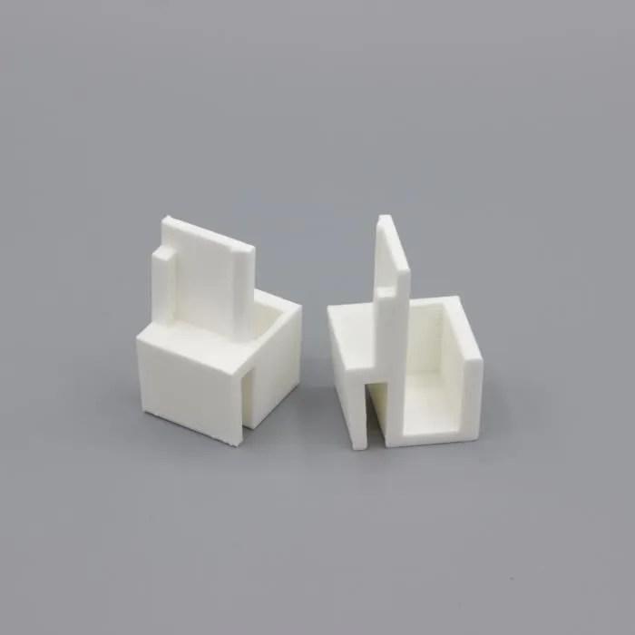 paire de guides blancs compatibles placards form o