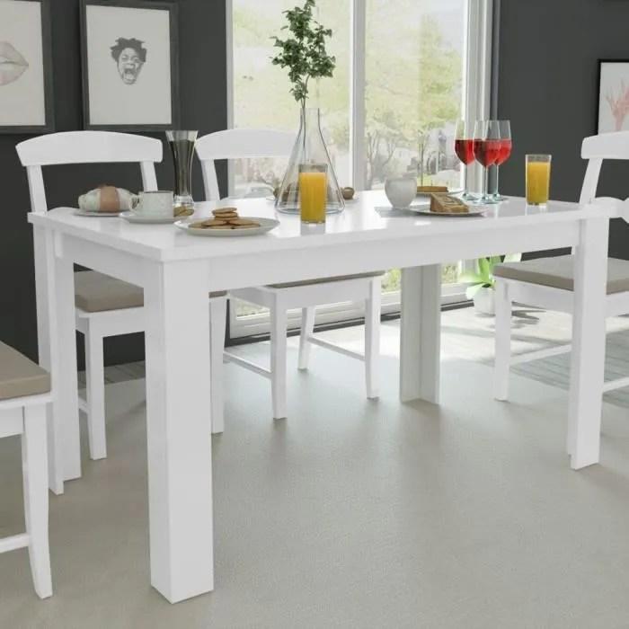 version mise a jour table de sejour pour salle a manger et sejour blanc jusqu a 6 personnes 140x80x75 cm