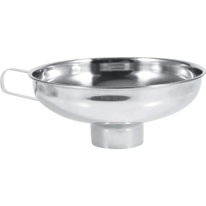 entonnoir a confiture en acier inox large ouverture avec poignee cuisine filtre canning pour transfert de liquide fluide poudre s